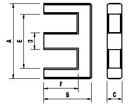 慧越EE、EEL、EF型磁芯图纸
